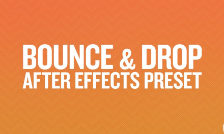 Bounce and Drop – Free After Effects Preset