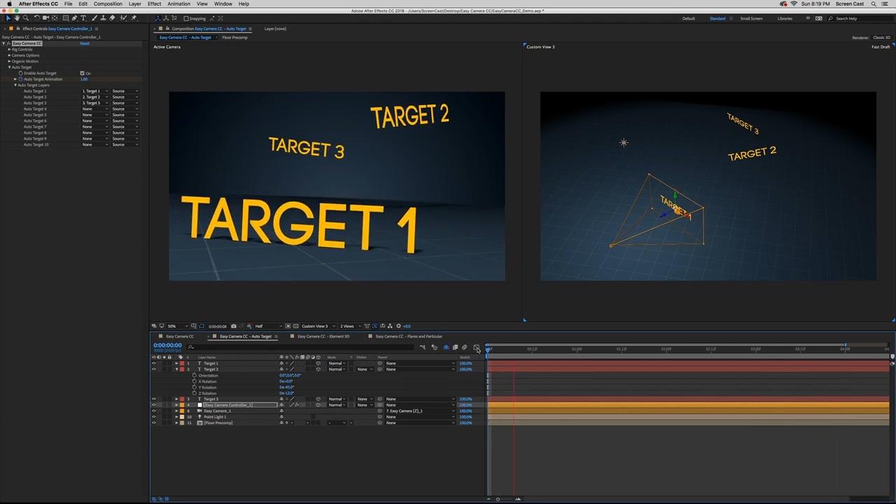 Easy Camera CC - Auto Target